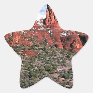 Rocks Red Spires Sedona Arizona Star Sticker