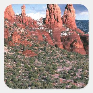 Rocks Red Spires Sedona Arizona Square Sticker
