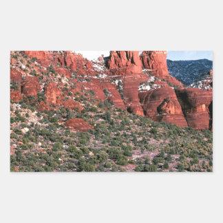 Rocks Red Spires Sedona Arizona Rectangular Sticker