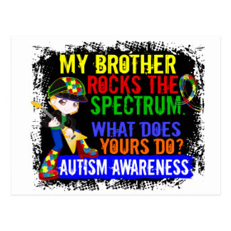 Rocks Spectrum Autism Postcard