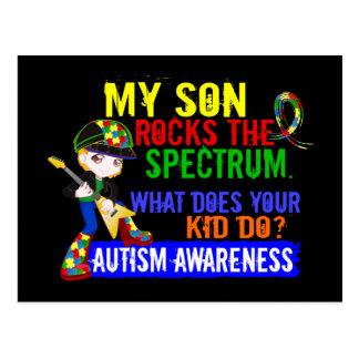 Rocks Spectrum Autism Son Postcards
