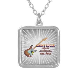 Rockstars are born in Saint Lucia Custom Necklace