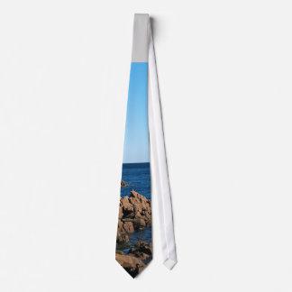 Rocky Coast Of Bass Harbor Tie