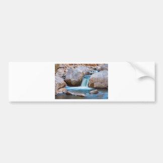 Rocky Mountain Canyon Waterfall Bumper Sticker