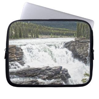 Rocky Mountain Waterfall Nature Photo Laptop Computer Sleeves