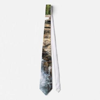 Rocky Mountain Waterfall Nature Photo Tie