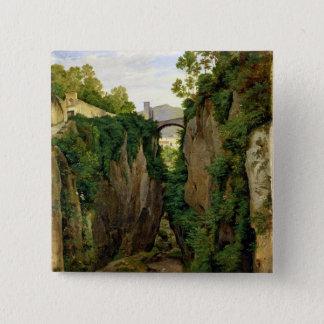 Rocky Ravine at Sorrento, 1823 15 Cm Square Badge