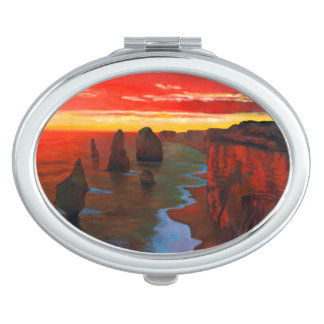Rocky Seashore At Sunset Mirrors For Makeup