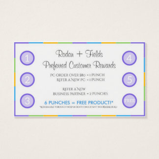Rodan + Fields Referral Rewards and Business Card