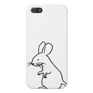 Rodent rat mouse ink line drawing art design logo cover for iPhone 5/5S