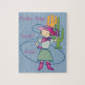 """Rodeo Champ Cowgirl Rose 8""""x10"""" Jigsaw Puzzle"""