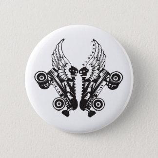 roller derby 6 cm round badge
