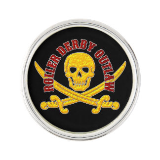 Roller Derby Outlaw Pin Badge