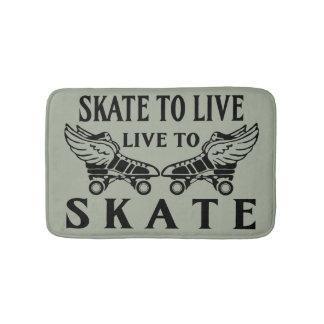 Roller Derby, Skate to Live Live to Skate Bath Mats