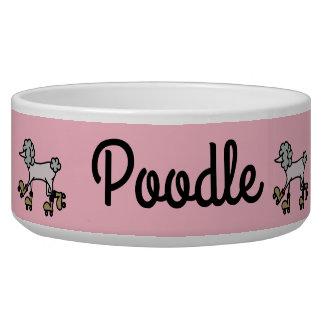 Rollerskating Poodle Dog pet bowl