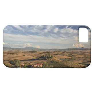 Rolling farm land after the harvest at sunset iPhone 5 cases