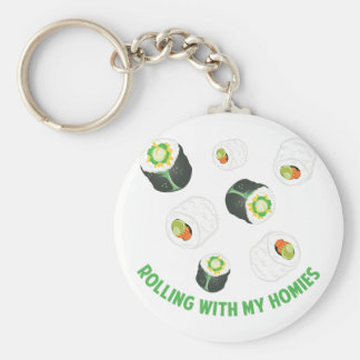 Rolling With Homies Basic Round Button Key Ring