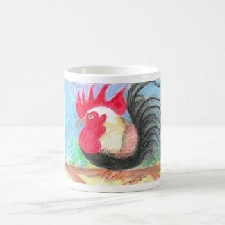 rollo rooster basic white mug