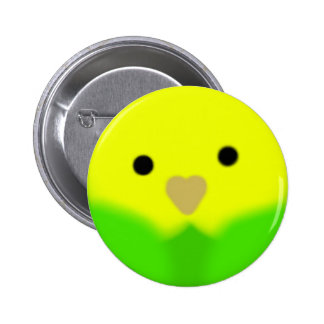 Roly Poly Parakeet-Green 6 Cm Round Badge