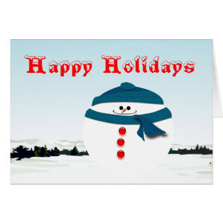 Roly-Poly Snowman Greeting Card