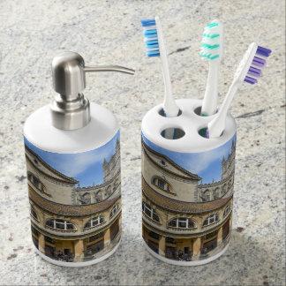 Roman Baths in Bath England Soap Dispenser And Toothbrush Holder