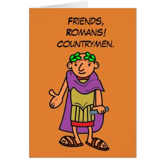 Roman Emperor Happy Birthday Greetings Card