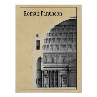 Roman Pantheon Classical Architecture Poster