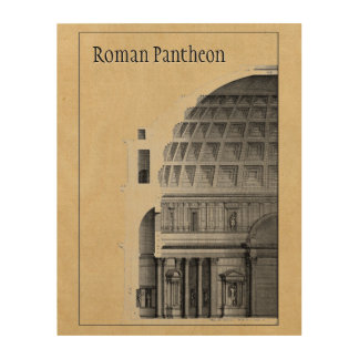 Roman Pantheon Classical Architecture Wood Canvases