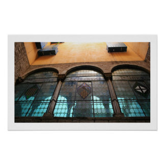 Roman Ruins Barcelona Poster