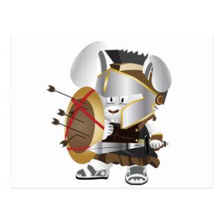 Roman Soldier Bunny Postcard