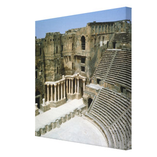 Roman theatre at Bosra , Syria Canvas Print