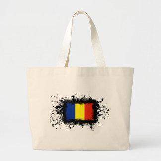 Romania Flag Large Tote Bag