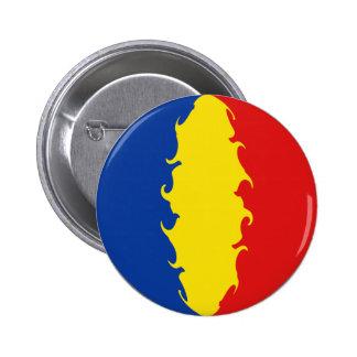 Romania Gnarly Flag 6 Cm Round Badge