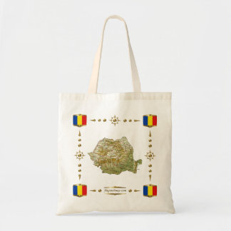 Romania Map + Flags Bag