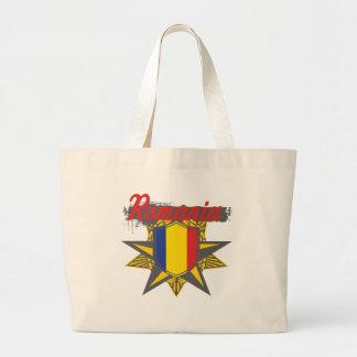 Romania Star Large Tote Bag