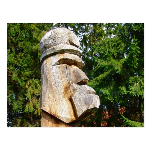 Romania, Traditional carved wooden figure Postcards
