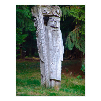 Romania Traditional carved wooden figure Post Card