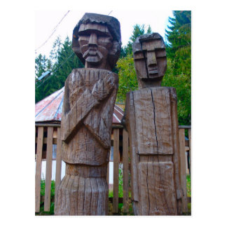 Romania, Traditional carved wooden figure Post Card