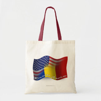 Romanian-American Waving Flag Tote Bag