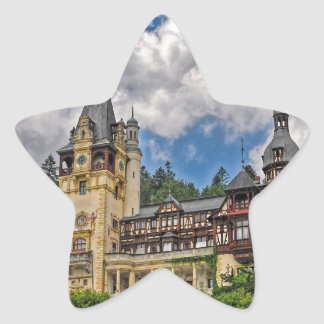Romanian Castle Star Sticker