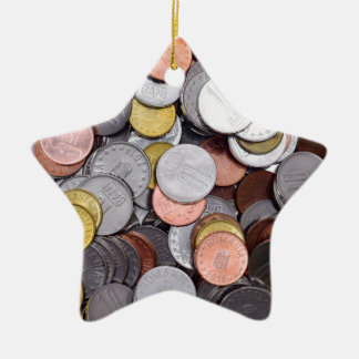 romanian coins christmas ornament