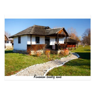 Romanian country home postcard