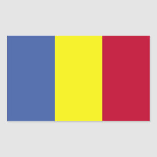 Romanian Flag Rectangular Sticker