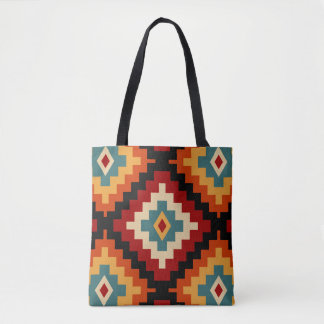 Romanian Folk Motifs Tote Bag