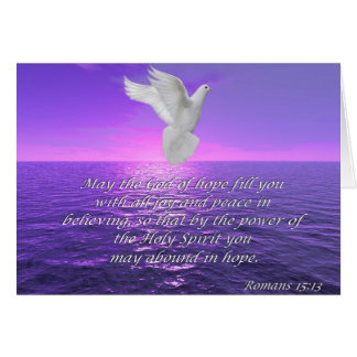 Romans 15:13 Hope Bible quotes card