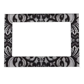 romantic bohemian fashion paris black lace magnetic frame