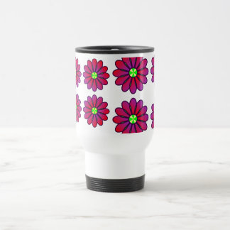 Romantic color Flowers Thank You Travel Mug
