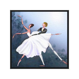 ROMANTIC COUPLE DANCING, GISELLE BALLET  CANVAS