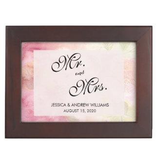 Romantic Dreamy Blossom Wedding Day Keepsake Box