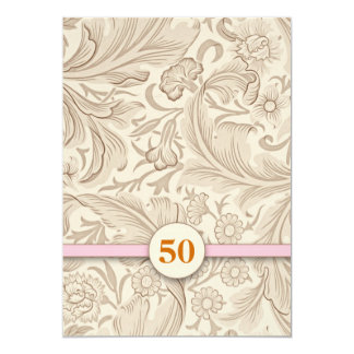 Romantic Floral Wedding Anniversary Card